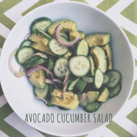 Fresh and Simple Avocado Cucumber Salad Recipe