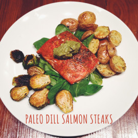 Paleo Salmon Recipe with Avocado Sauce