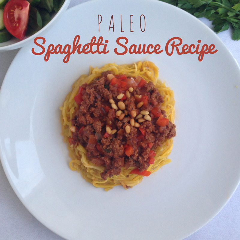 Paleo Spaghetti Sauce Recipe