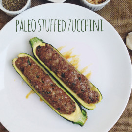 Paleo Stuffed Zucchini Recipe