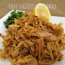 Paleo Shredded Pork Tamale