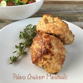 Paleo Chicken Meatballs with Apple and Oregano